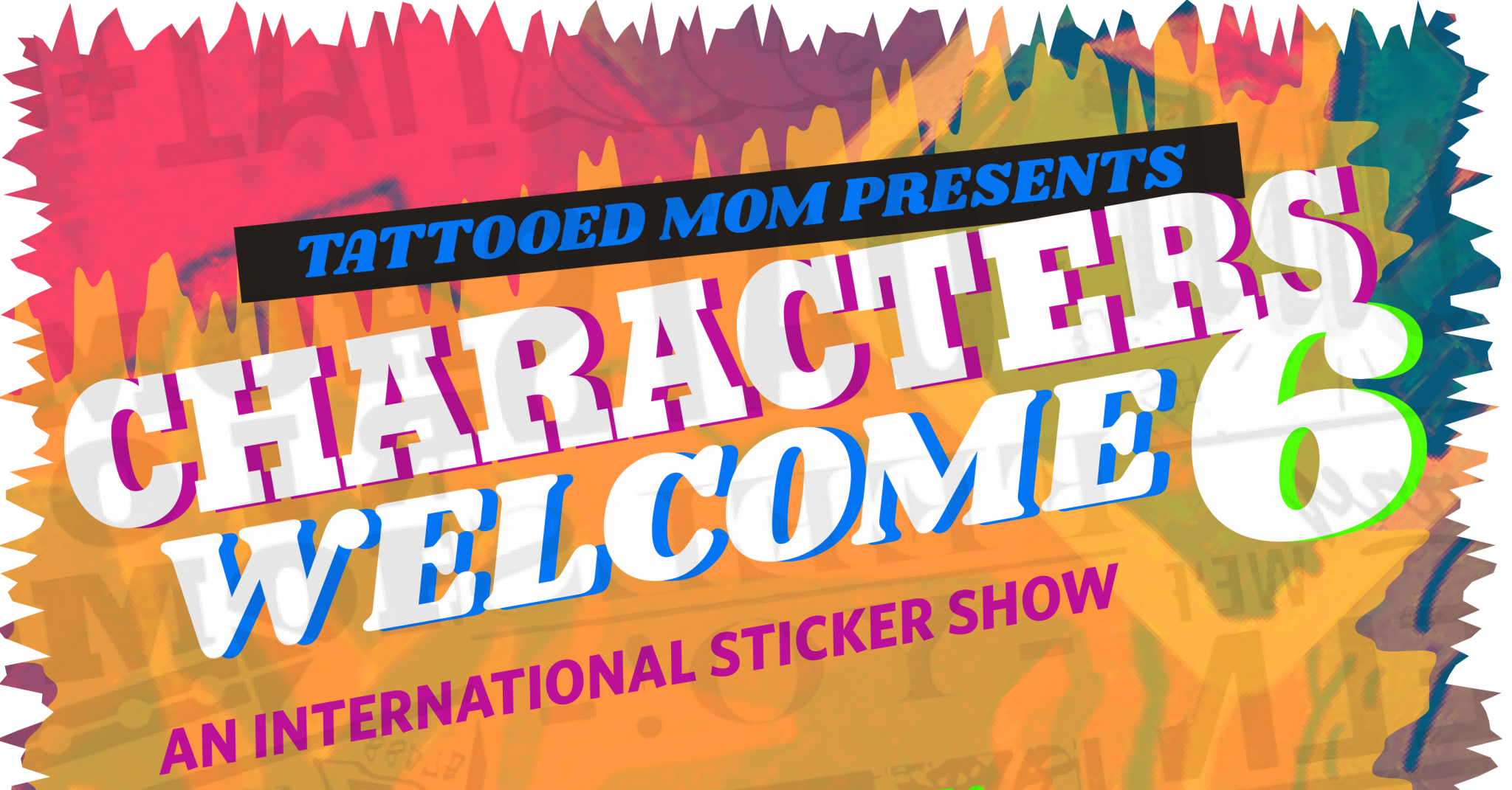 Art archives tattooed mom characters welcome 6 an international sticker art show sciox Gallery