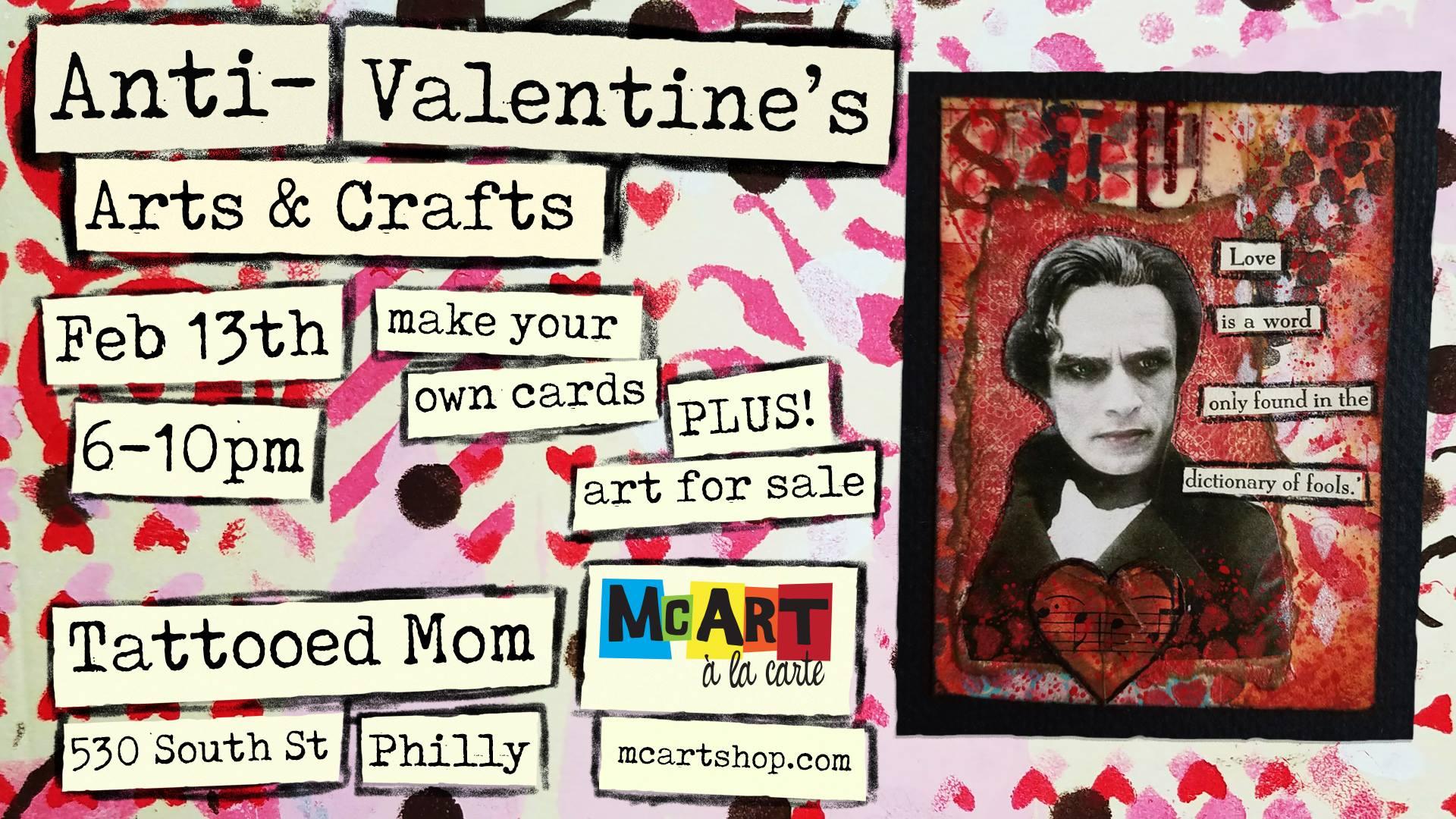 Anti-Valentine's Arts & Crafts - Tattooed Mom