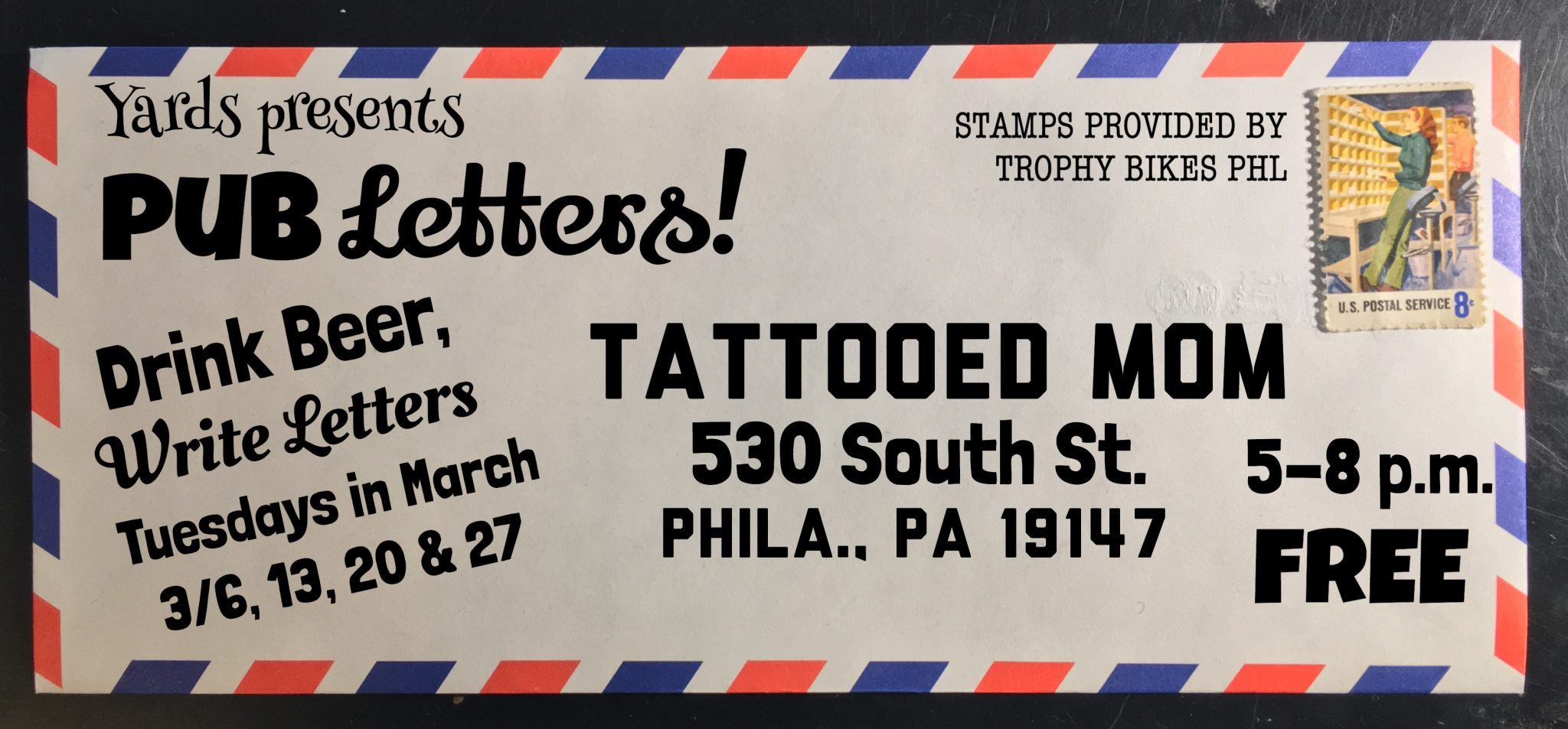Publetters: Letter Writing Station - Tattooed Mom