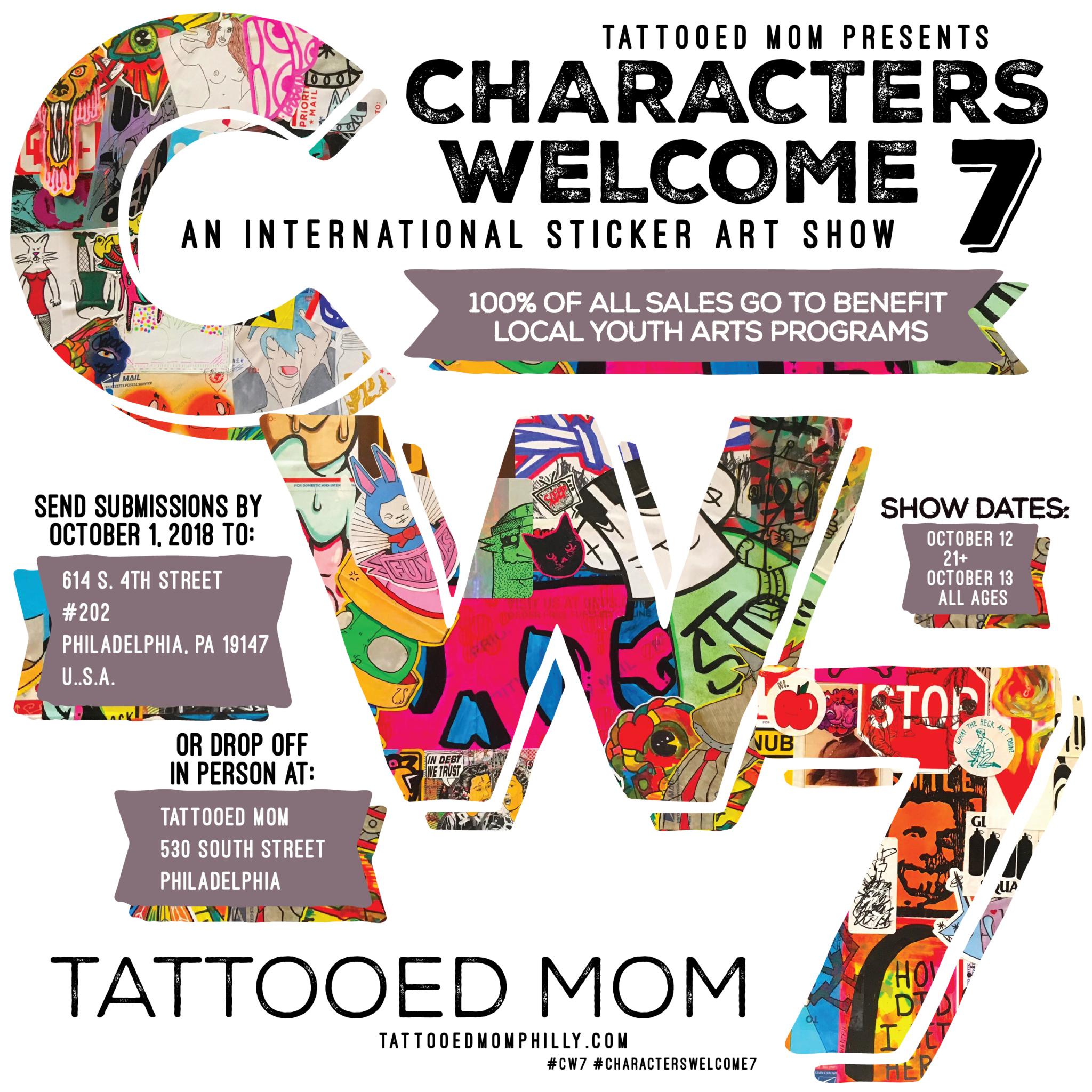 6af13b7b5d5 Characters Welcome 7  An International Sticker Art Show